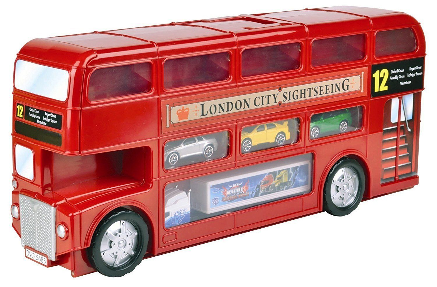 London Bus Carry Case Playset With Cars And Accessories